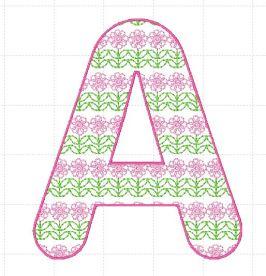 Flower Font A