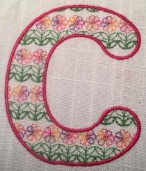 C Flower Font