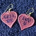 Candy Heart Earrrings