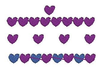 6mm Fill Stitch Hearts