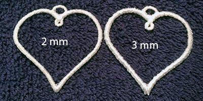 Two heart hoops