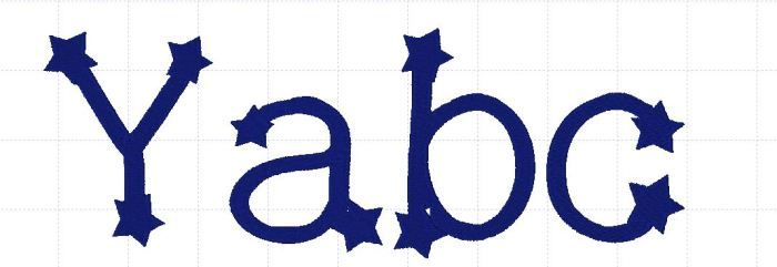 Lower case letters abc compared to a capital Y
