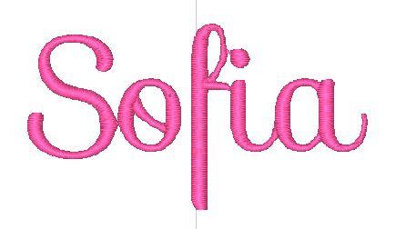 Sofia in the Sofia Font.