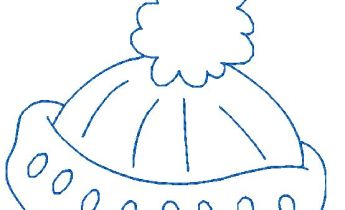 Winter Hat in bluework